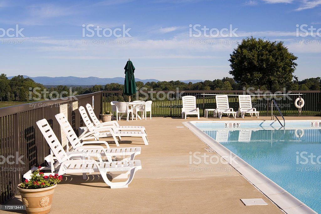 Poolsides royalty-free stock photo