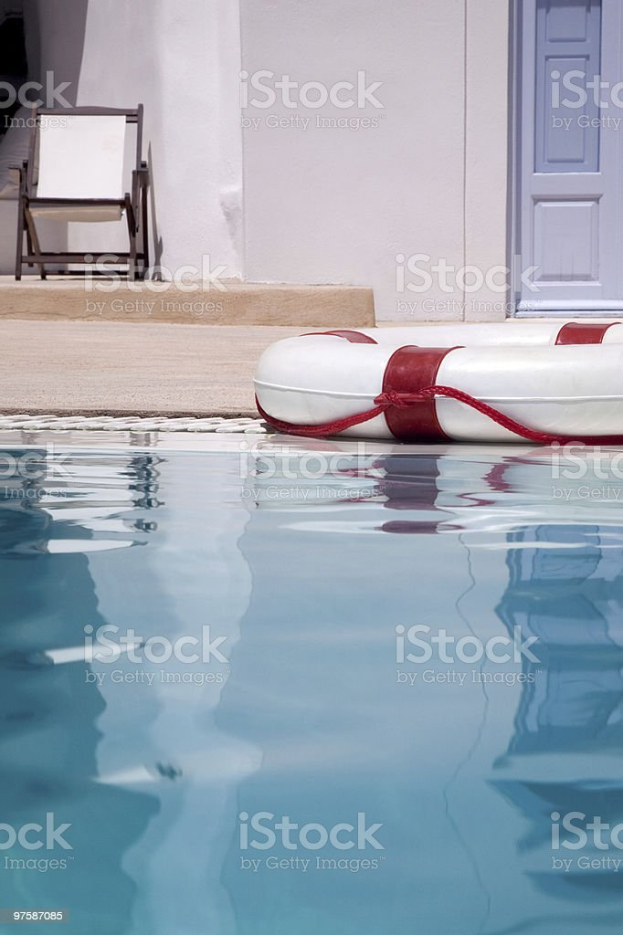 La piscine/vacances de sécurité photo libre de droits