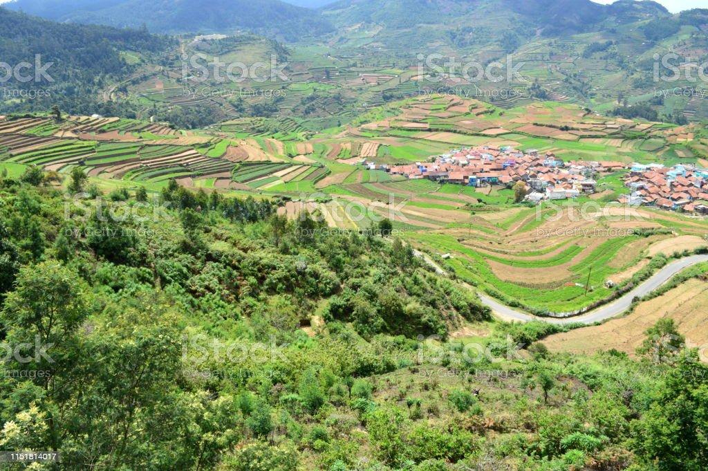 Poombarai Village Y La Agricultura En Terrazas En Kodaikanal