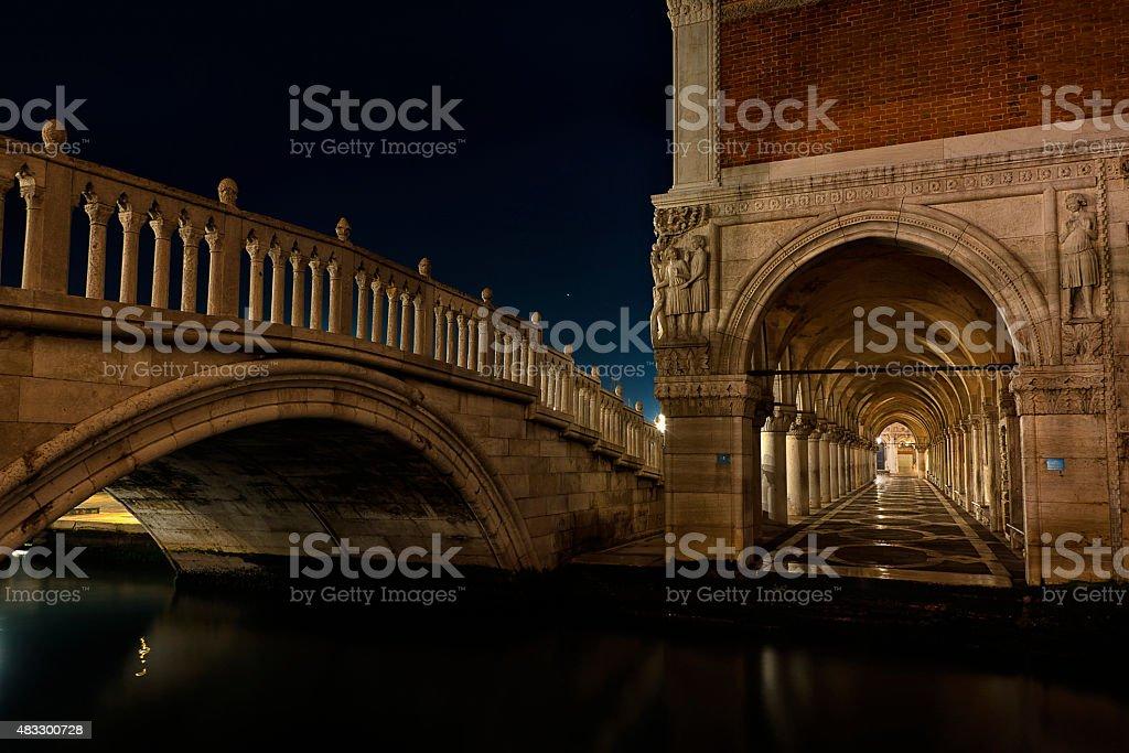 Poonte della Paglia, Venice royalty-free stock photo