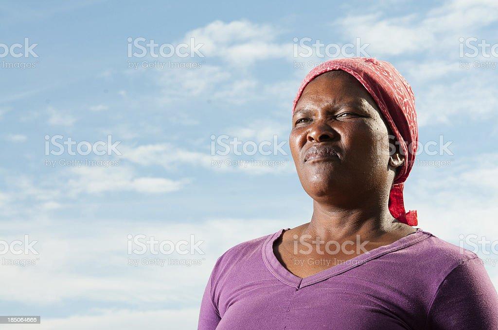 Poor African woman stock photo