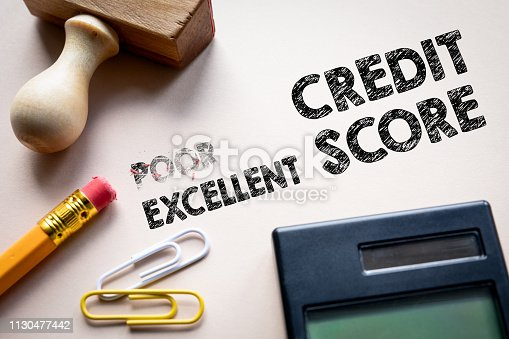 istock Poor and Excellent credit score 1130477442
