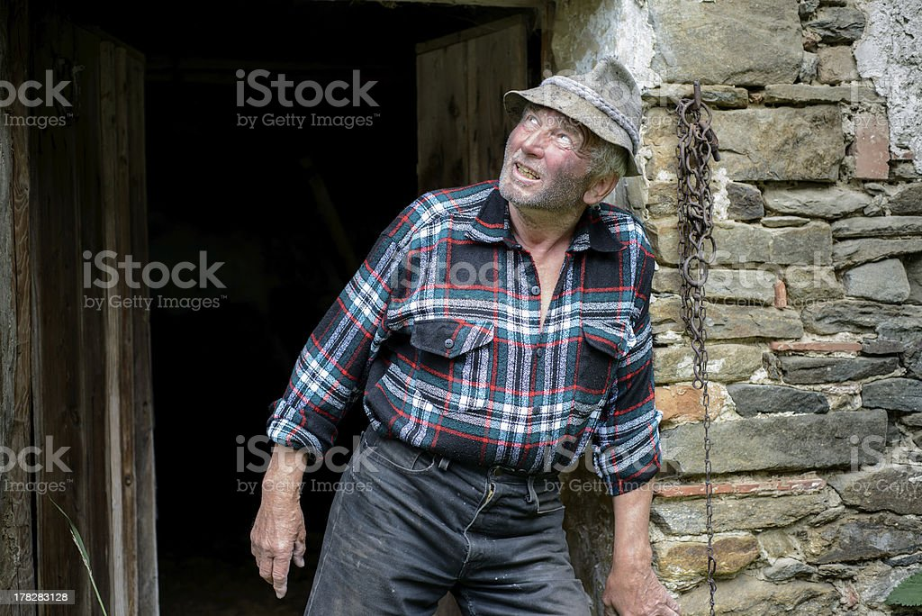 poor farmer stock photo
