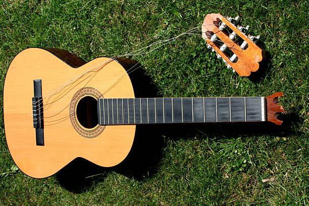 poor guitar. - broken guitar stock photos and pictures
