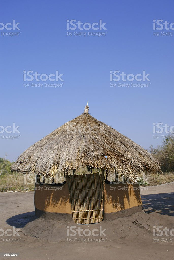 Poor house in Mozambique Series stock photo