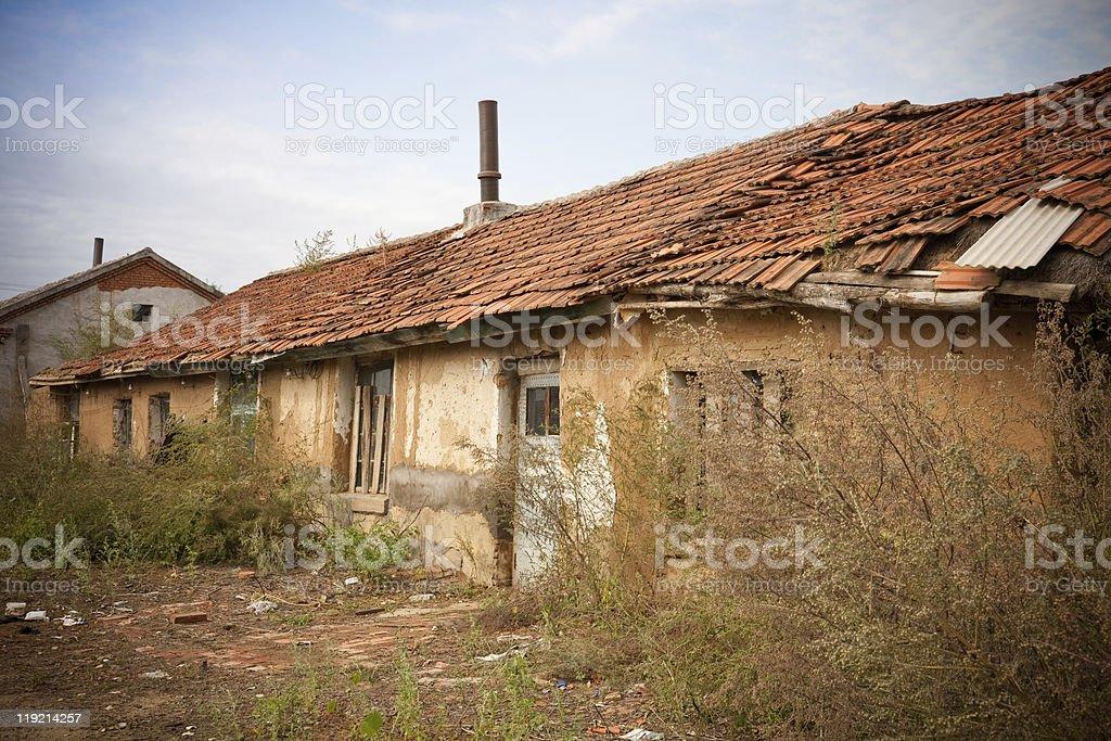 poor housing royalty-free stock photo