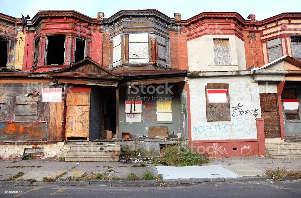 Poor Inner City Neighborhood royalty-free stock photo
