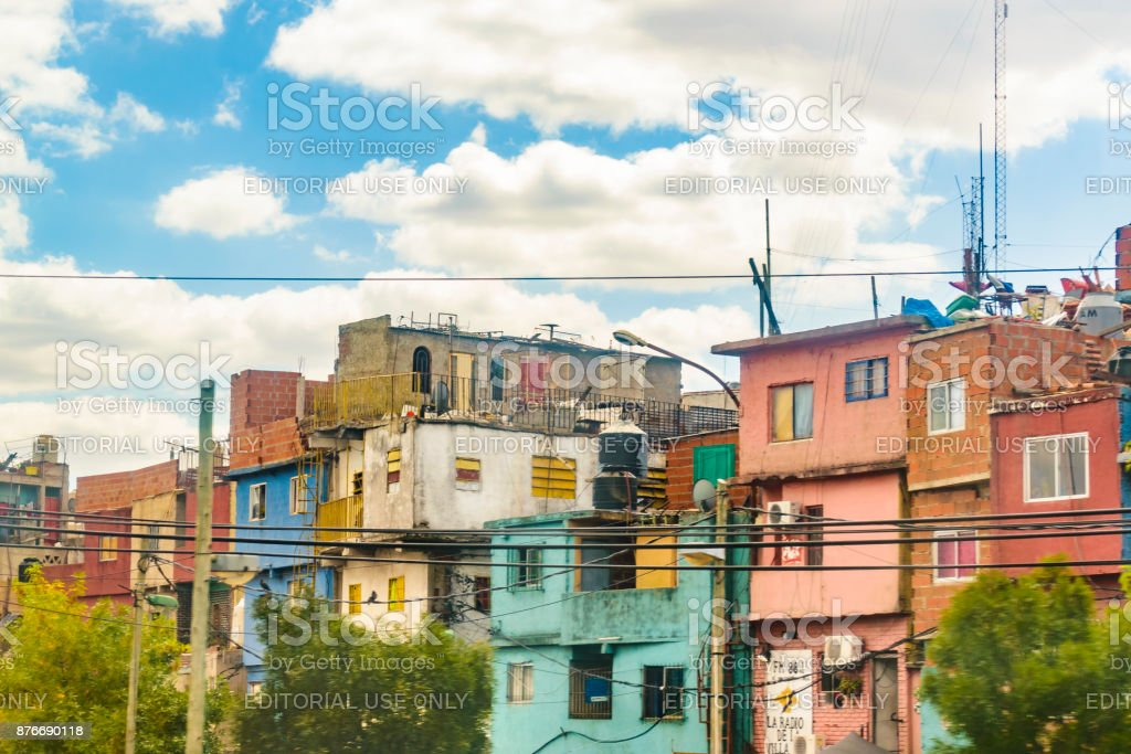 Poor Neighborhood, Buenos Aires, Argentina stock photo