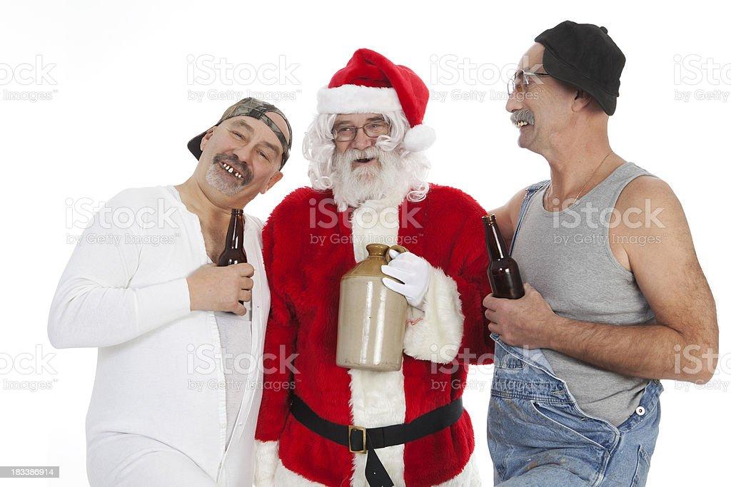 Poor Santa with Hillbillies royalty-free stock photo