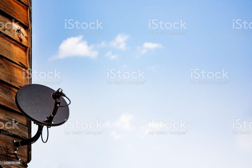 Poor satellite dish stock photo