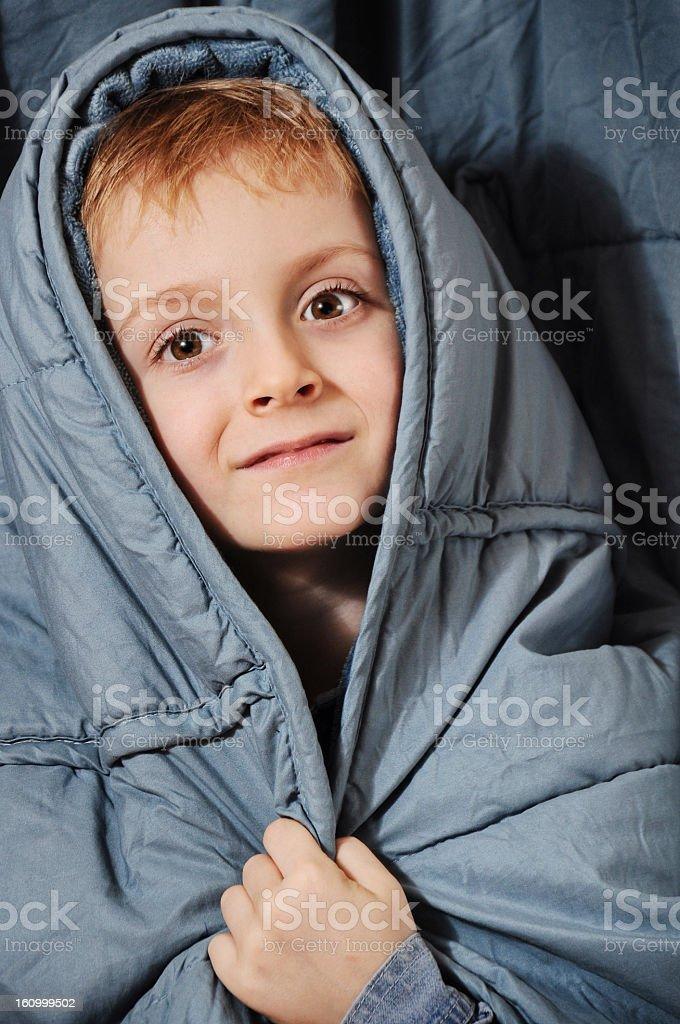 Poor sick boy royalty-free stock photo