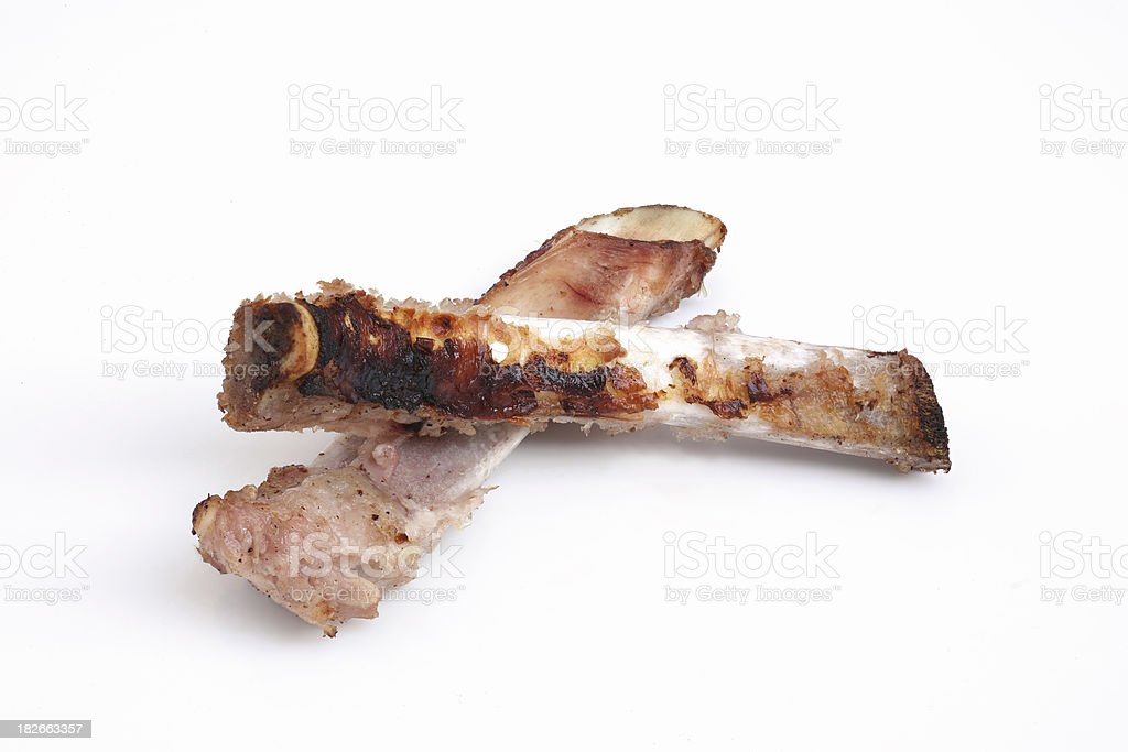 Poor Value (Trash - Pork Chops Bones) royalty-free stock photo