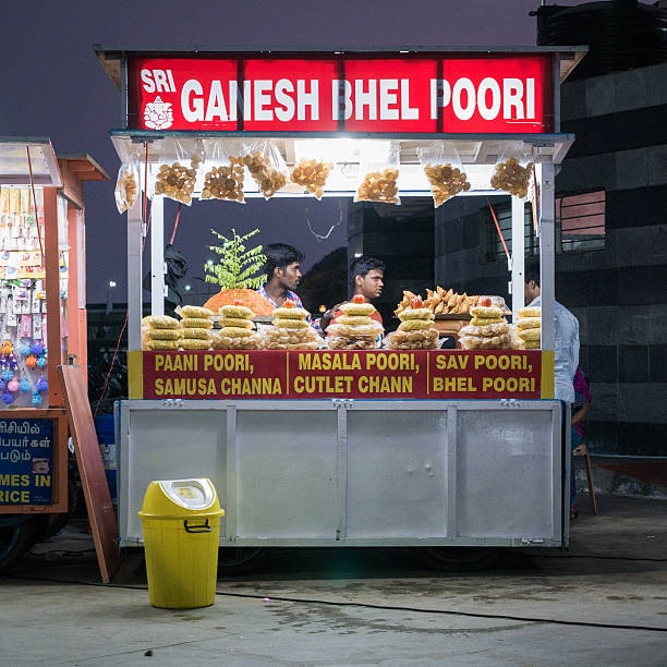 Best Indian Fast Food Stall Stock Photos, Pictures & Royalty