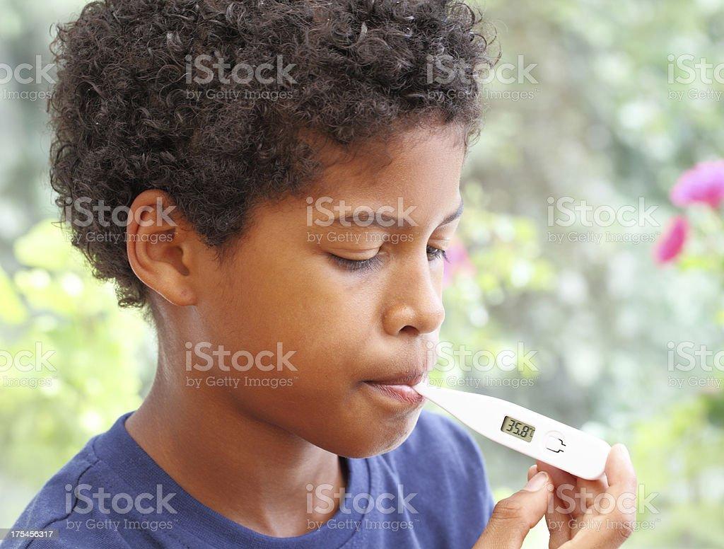 poorly boy stock photo