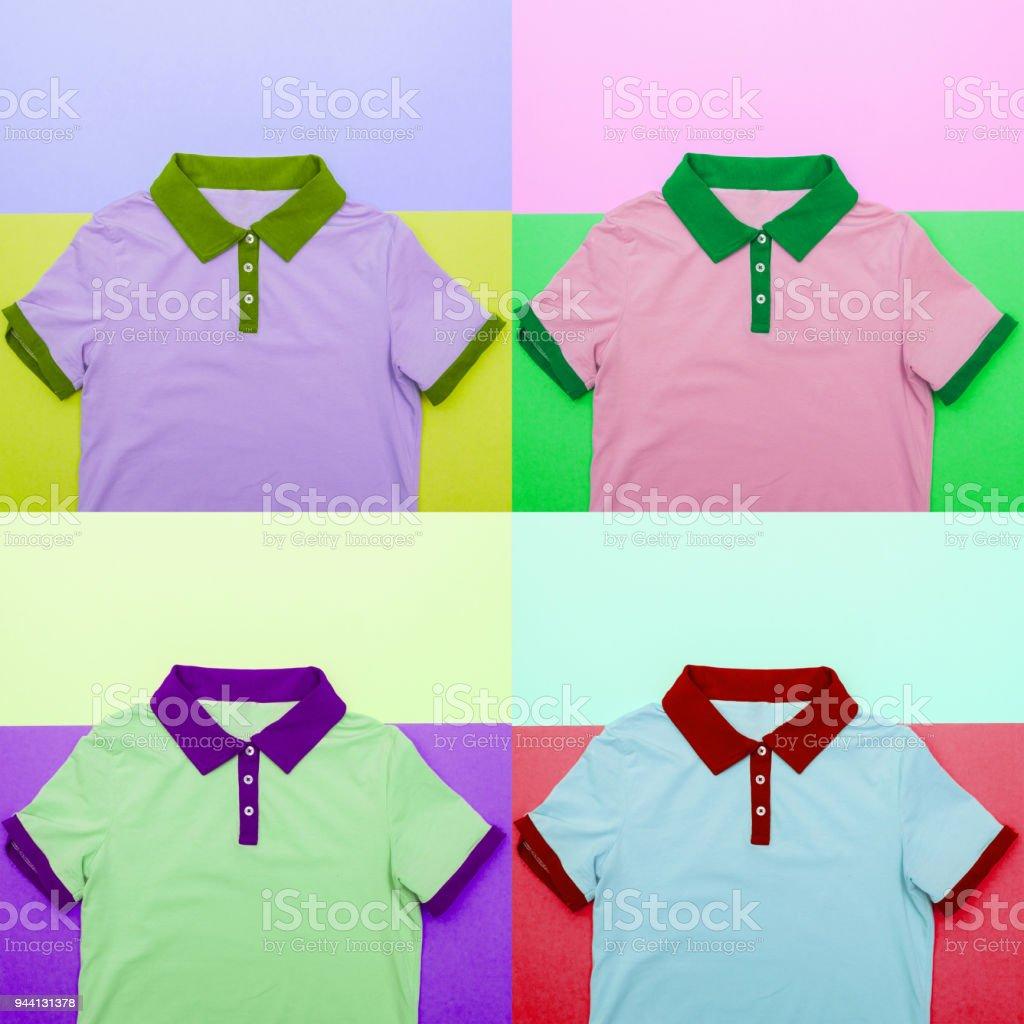 Pop Art Concept Of A Fashionable Tshirt Stock Photo