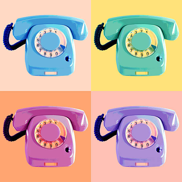 pop art phone poster - pop art stock photos and pictures
