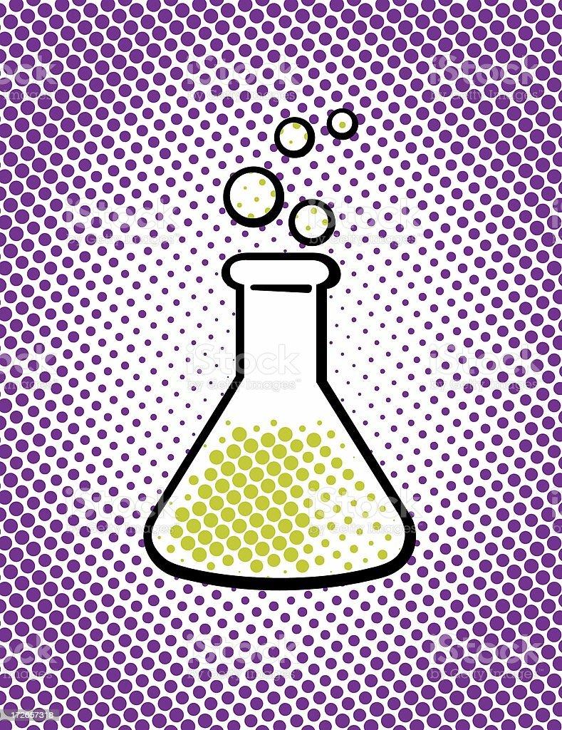 pop art : science royalty-free stock photo
