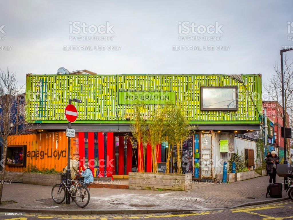 Pop Brixton, London stock photo
