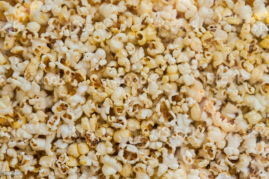 Pop corn in a glass box royalty-free stock photo