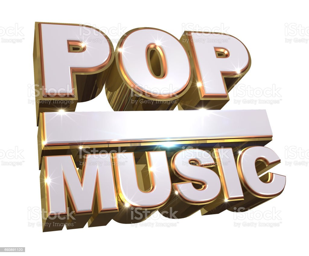 Pop music 3d logo stock photo