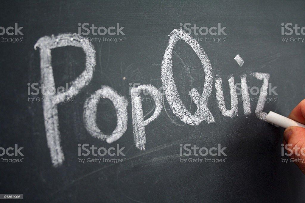 pop quiz royalty-free stock photo