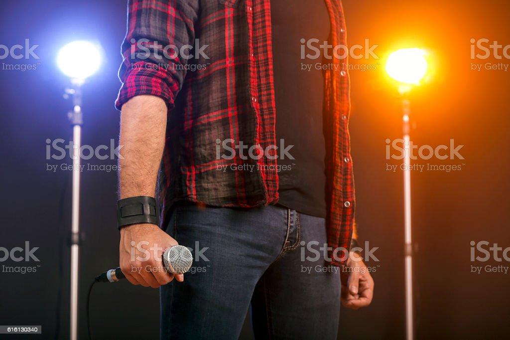 Pop singer stock photo