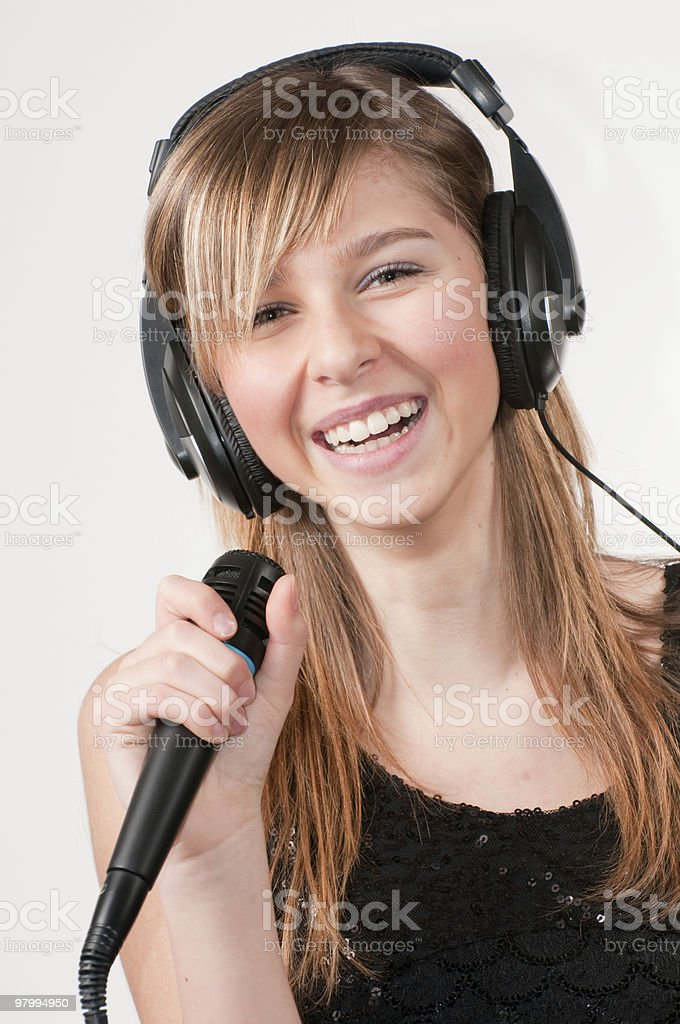 Pop singer royalty-free stock photo