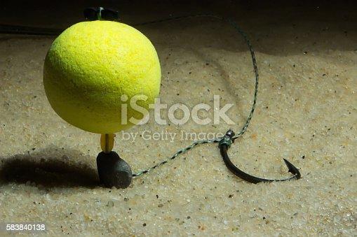 KD pop up rig Underwater. Carp Hook Boilies Underwater. Carp fishing hook Underwater