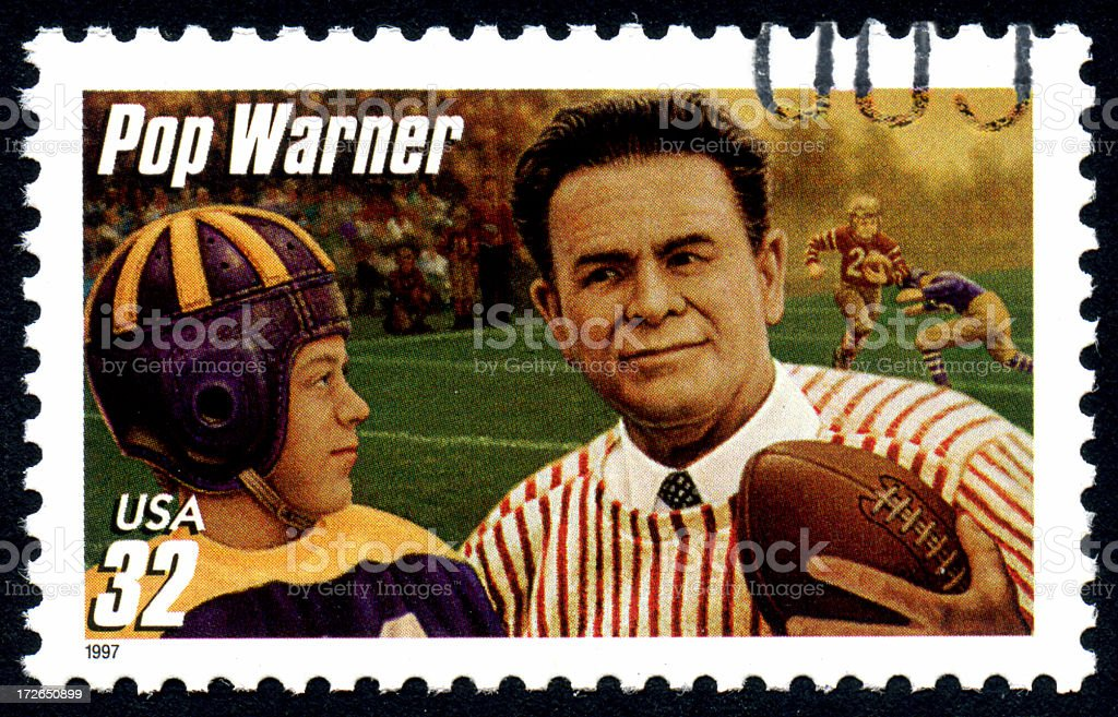 Pop Warner royalty-free stock photo