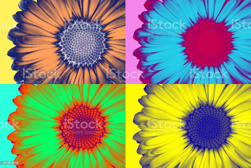 Pop-art daisie stock photo