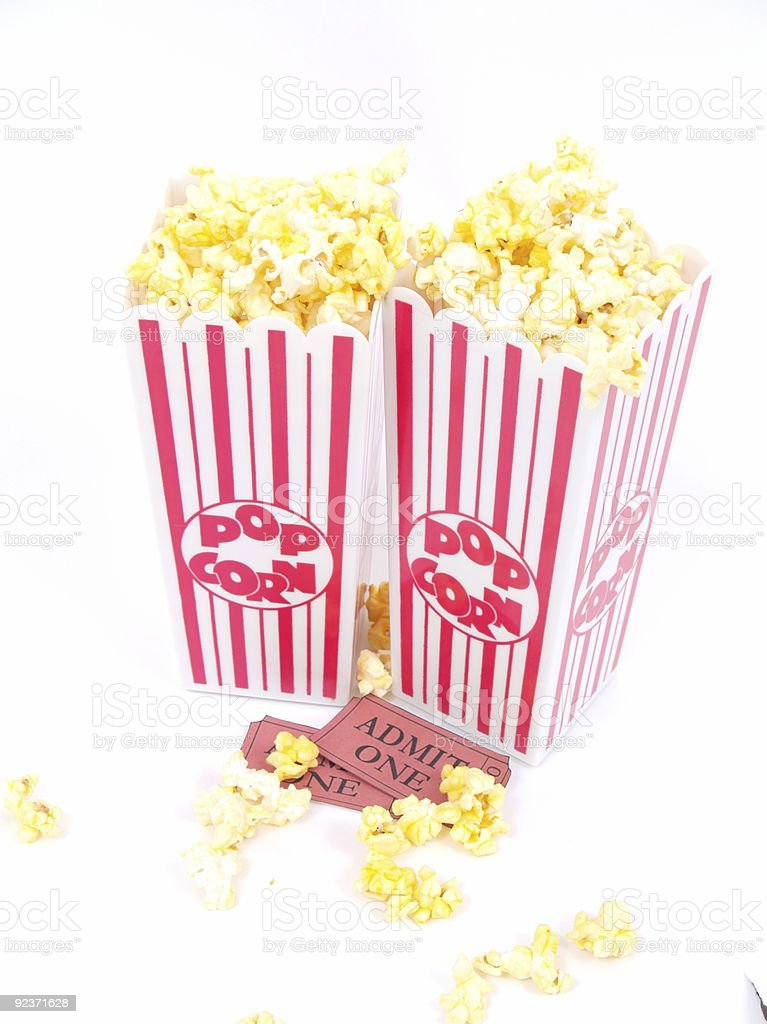 Popcorn and a Movie royalty-free stock photo