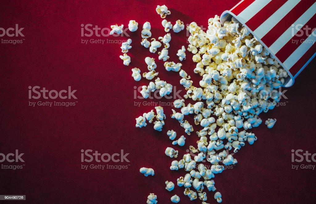 Popcorn and cinema stock photo