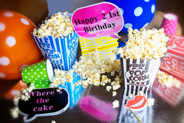 Popcorn bei 21. Bithday party – Foto
