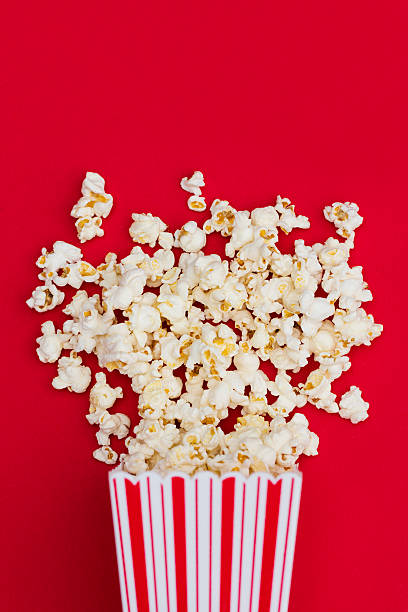 Popcorn background stock photo