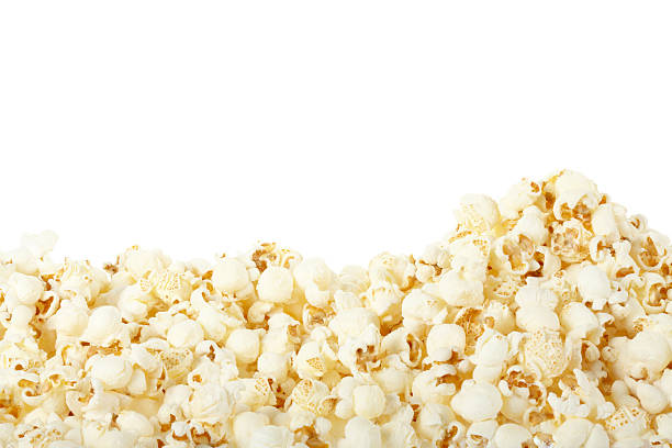 Popcorn border stock photo