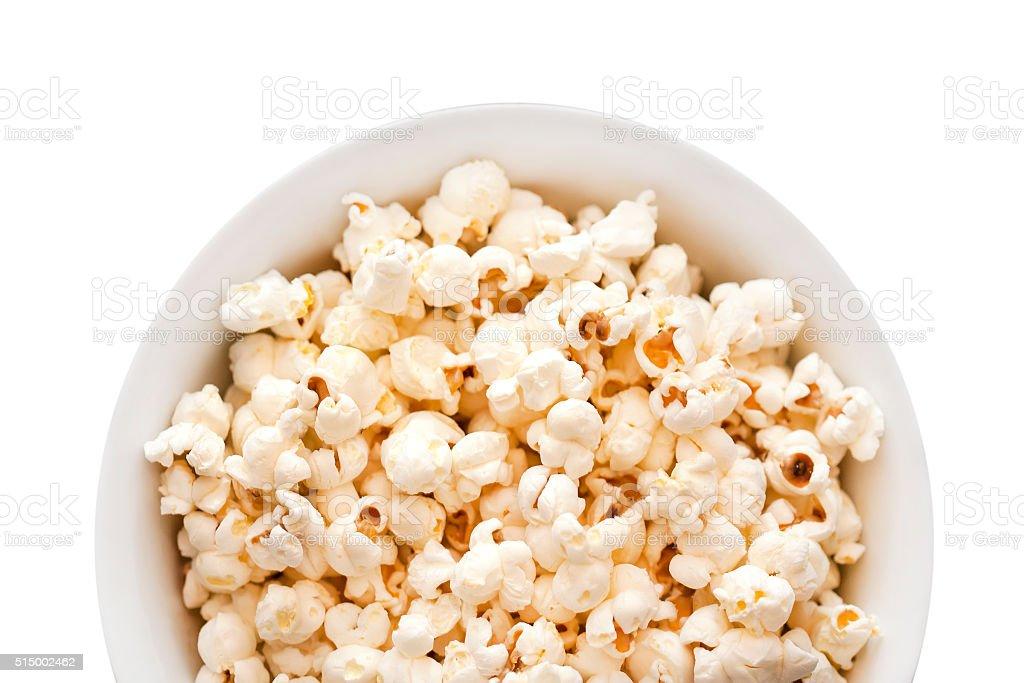 Popcorn bowl stock photo