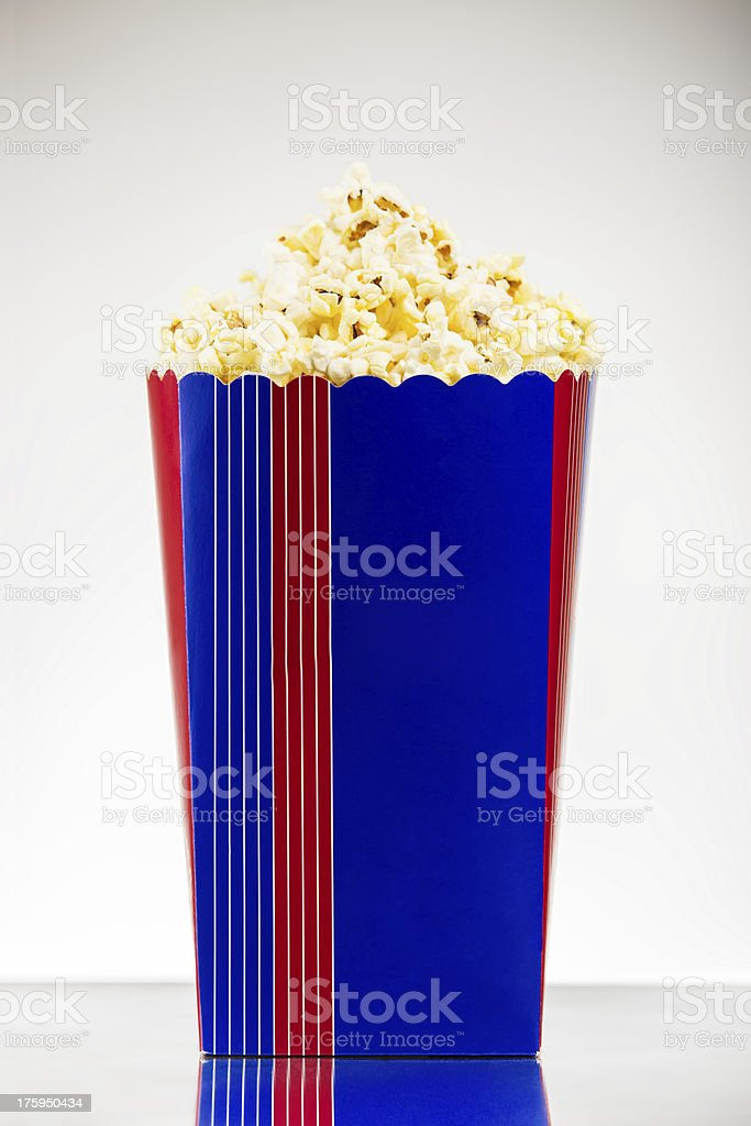 Popcorn bucket stock photo