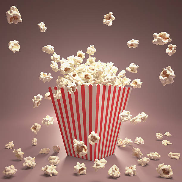 Popcorn Flying stock photo