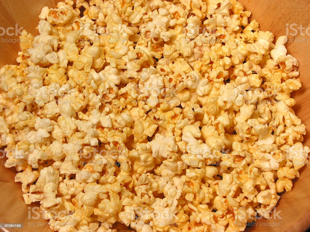 Popcorn in a bowl royalty-free stock photo