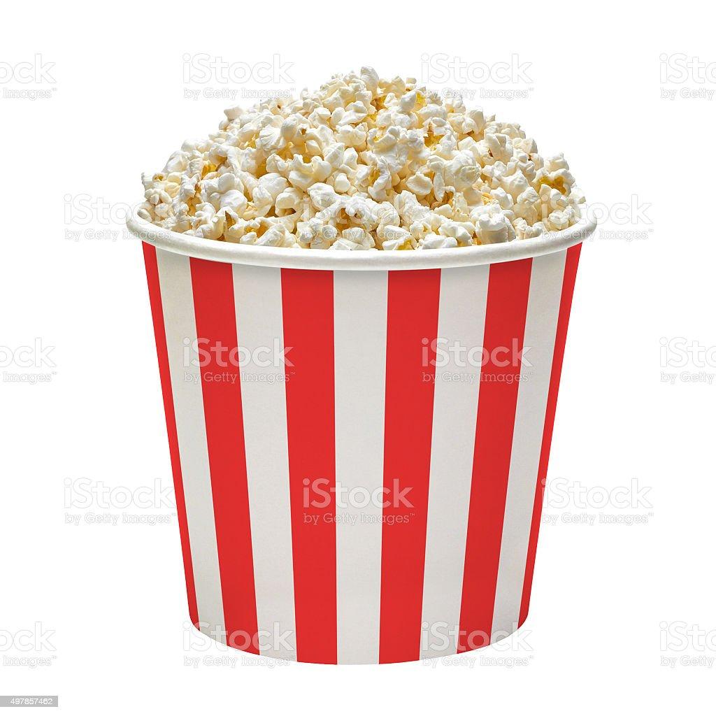 Popcorn in bucket stock photo