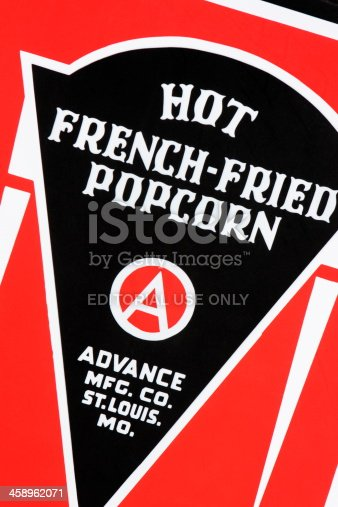 istock Popcorn Machine Company Sign 458962071