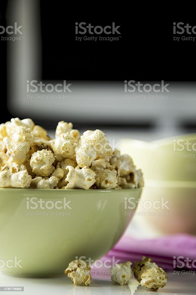 Popcorn movie stock photo