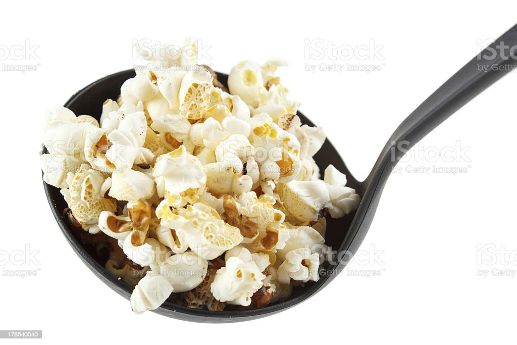 Popcorn on scoop royalty-free stock photo