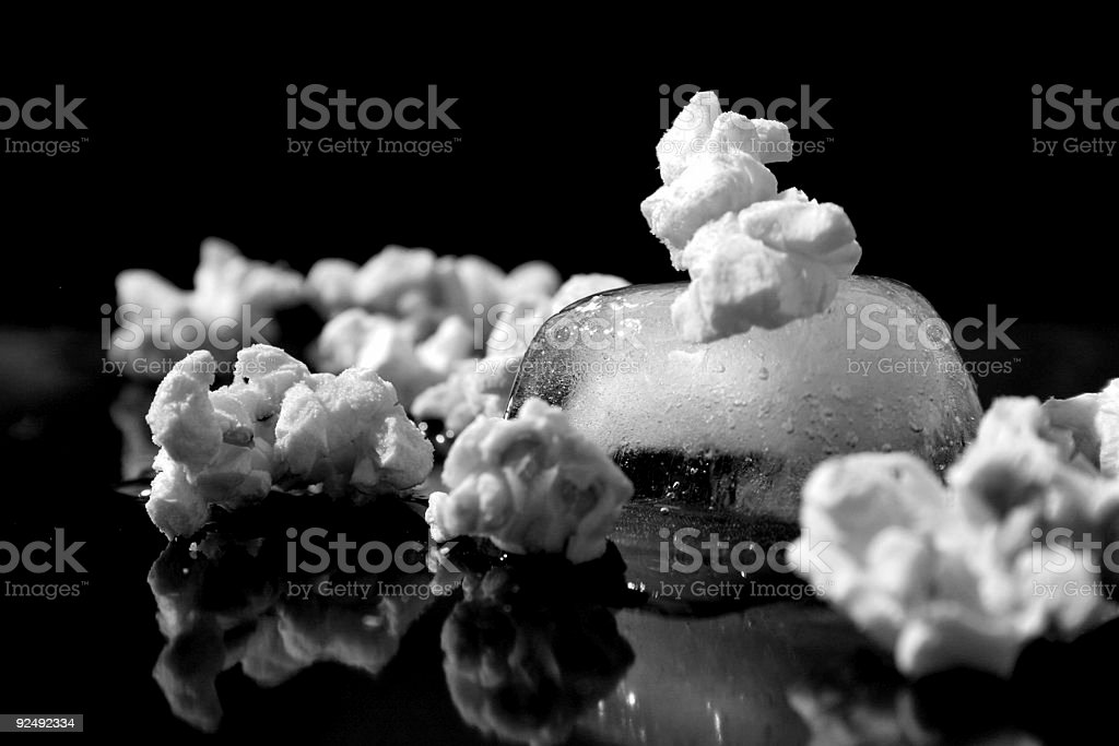 Popcorn 'on the rocks' royalty-free stock photo