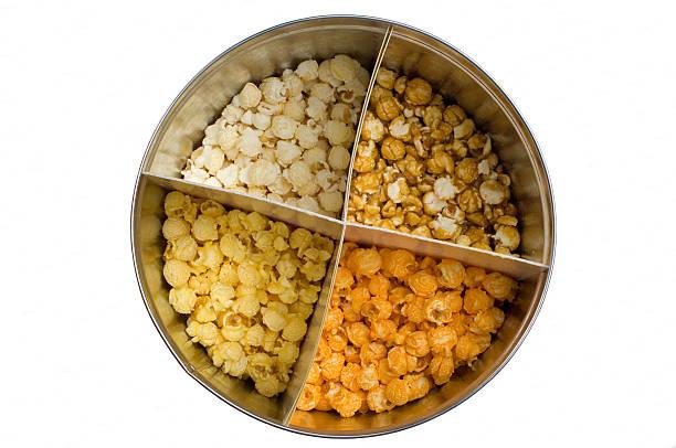 popcorn - blech stock-fotos und bilder