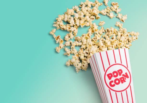 Popcorn. stock photo