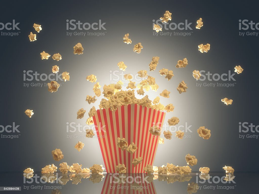 Popcorn Show Time stock photo