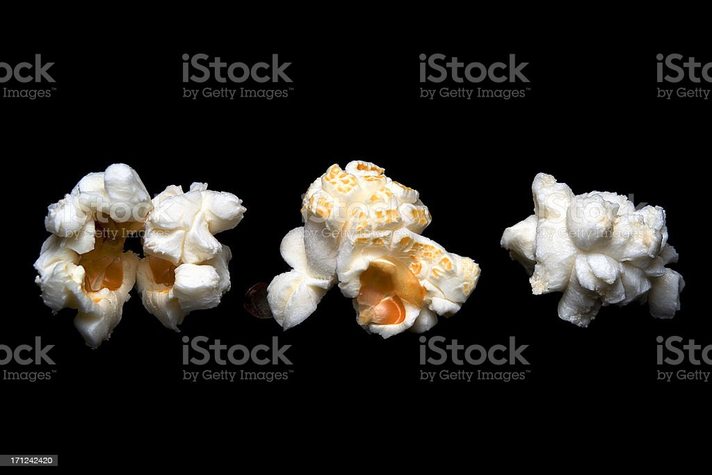 Popcorn trio. stock photo