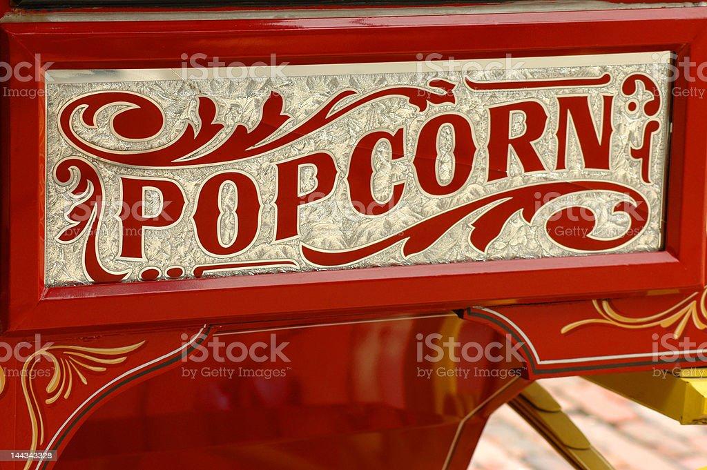 Popcorn vendor's cart stock photo