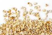 popcorn, background, white